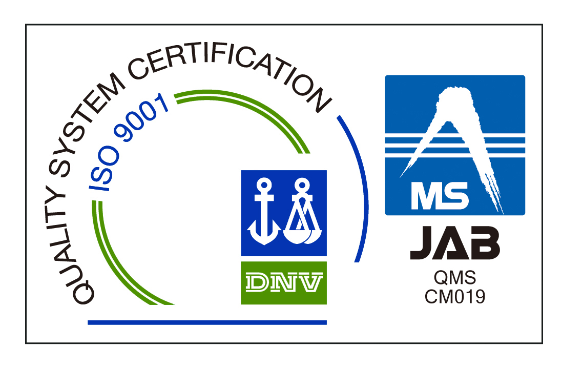 ISO9001(DNV+JABマーク)